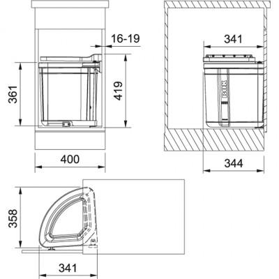 Сортер Pivot 30 л (для мешков 35 л)